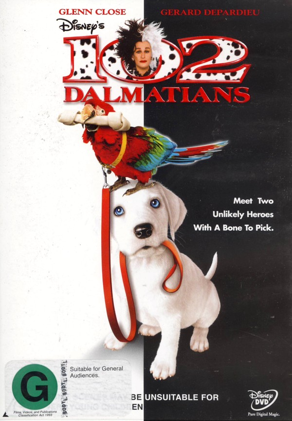 102 Dalmatians on DVD image