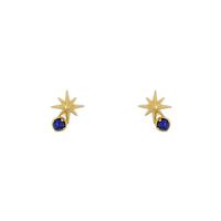Short Story: Earring Shooting Star Lapis Gold