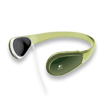 Logitech Curve Headphones for MP3 - Lime Green image