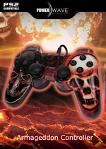 Powerwave Controller Red Skull for PlayStation 2