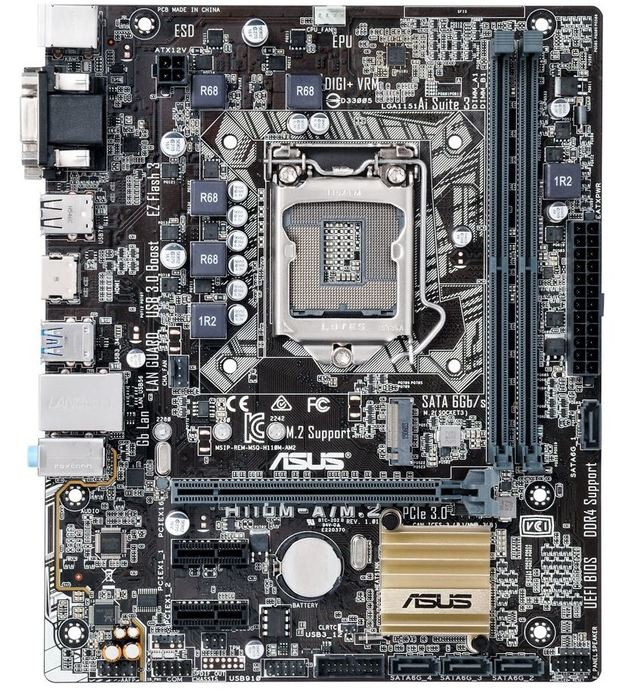 Asus H110M-A/M.2 Intel H110 M-ATX Motherboard | at Mighty ...