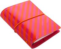 Filofax - Pocket Domino Organiser - Patent Orange & Pink Stripes