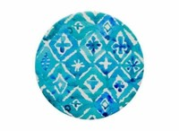 Annabel Trends Ceramic Coaster Set - Aqua Geo