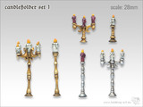 Tabletop-Art: Candleholders #1 - Parts Set
