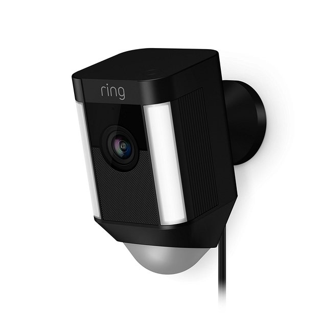 Ring: Spotlight Wired Camera - Black