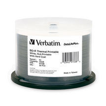 Verbatim BD-R 25GB 25Pk Wide White Thermal 6x