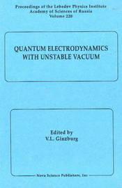 Quantum Electrodynamics with Unstable Vacuum image