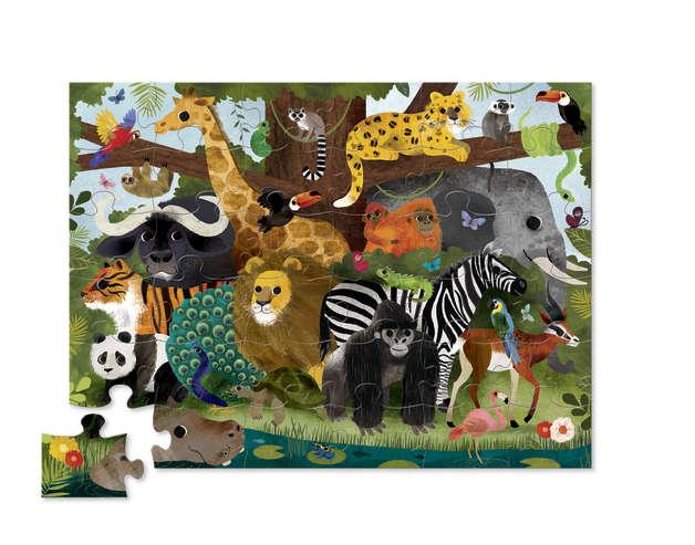 Crocodile Creek: Shaped Box Puzzle - Jungle Friends (36pc)