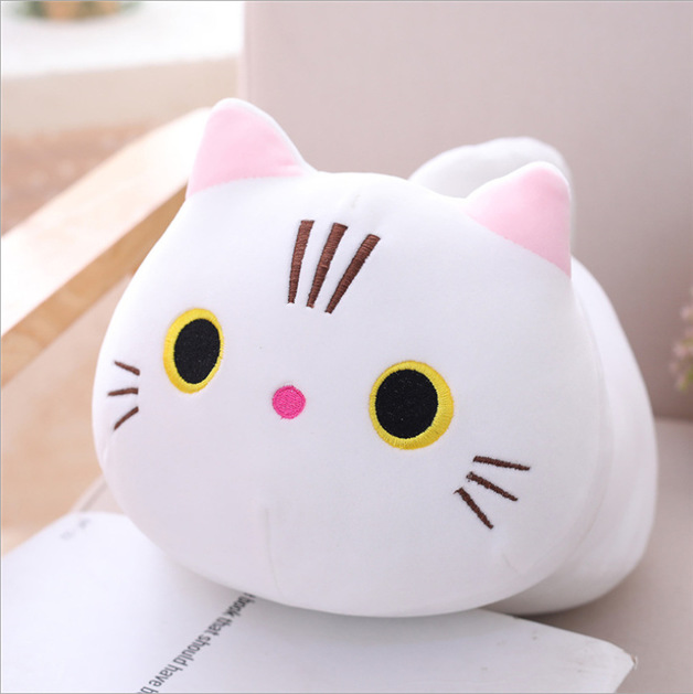 Gorilla: Chubby Cat Plush - White (35cm)