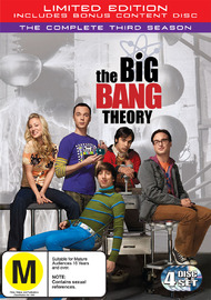 The Big Bang Theory - Complete 3rd Season with BONUS Disc (4 Disc Set) on DVD