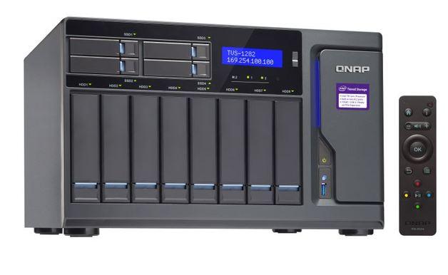 QNAP TVS-1282-I3-8G NAS,8+4+2 X M.2 SLOT(DISKLESS),8GB,I3-6700,USB,GbE(4),HDMI,TWR, 2YR