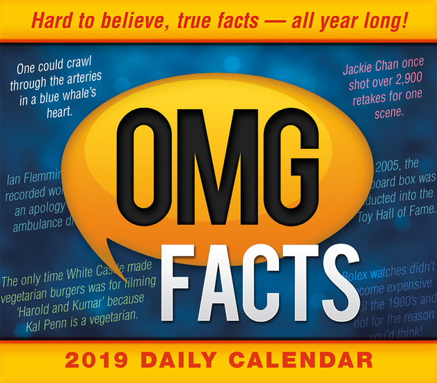 omg facts hard to believe true facts all year long 2019 desk calendar
