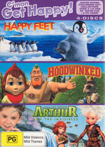 Happy Kids Collection (Happy Feet / Arthur And The Invisibles / Hoodwinked) (3 Disc Box Set) on DVD