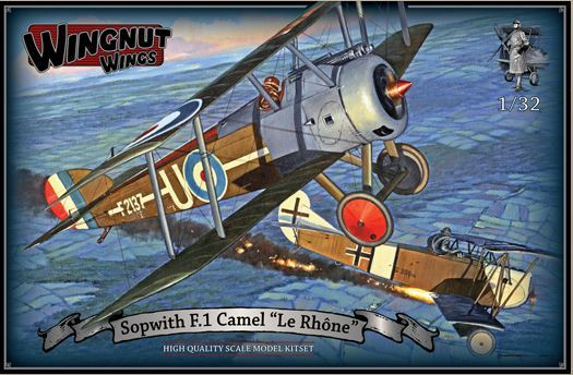 "Wingnut Wings 1/32 Sopwith F.1 Camel ""Le Rhone"" Model Kit"