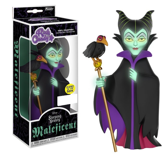 Sleeping Beauty - Maleficent (Glow) Rock Candy Vinyl Figure image