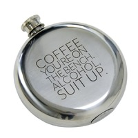 Hip Flask (Coffee Suit Up)