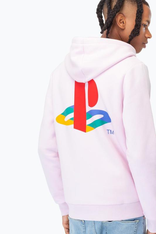 Just Hype: PlayStation Pink Crest Mens Pullover Hoodie - Small