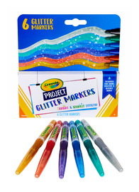 Crayola: Project - Glitter Markers (6-Pack)
