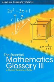Essential Mathematics Glossary 3 by Red Brick Learning image