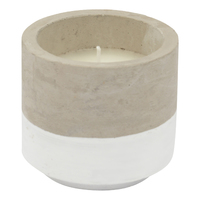Concrete Citronella Candle - White (Small)