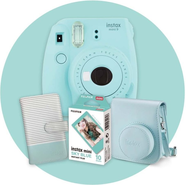 Instax Mini 9 Gift Pack - Ice Blue