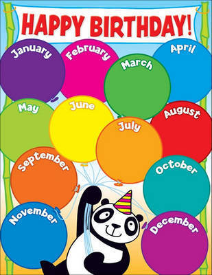 Panda Birthday Chart by Teacher's Friend