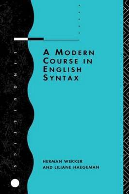 A Modern Course in English Syntax by Liliane Haegeman image