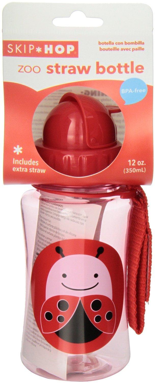 Skip Hop: Zoo Straw Bottle - Ladybug image