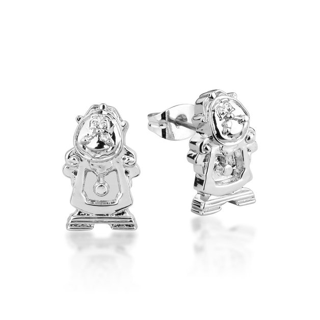 Couture Kingdom: Disney - Beauty and the Beast Cogsworth Studs (White Gold)
