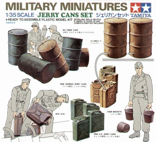 Tamiya Jerry Can Set 1:35 Model Kit image