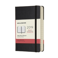 Moleskine: 2019 Pocket Hard Cover 12-Month Daily Planner - Black