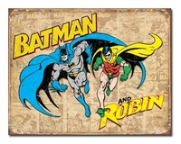 DC Comics: Batman & Robin - Retro Tin Sign