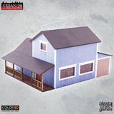ColorED Scenery: Suburban Blue House
