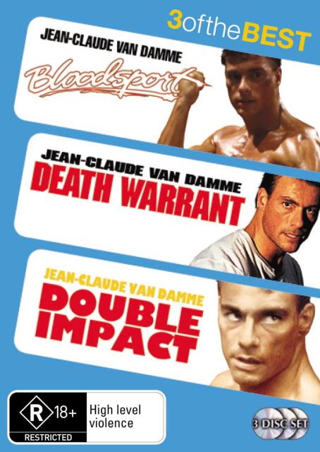 Bloodsport / Double Impact / Death Warrant (3 Disc Set) on DVD image