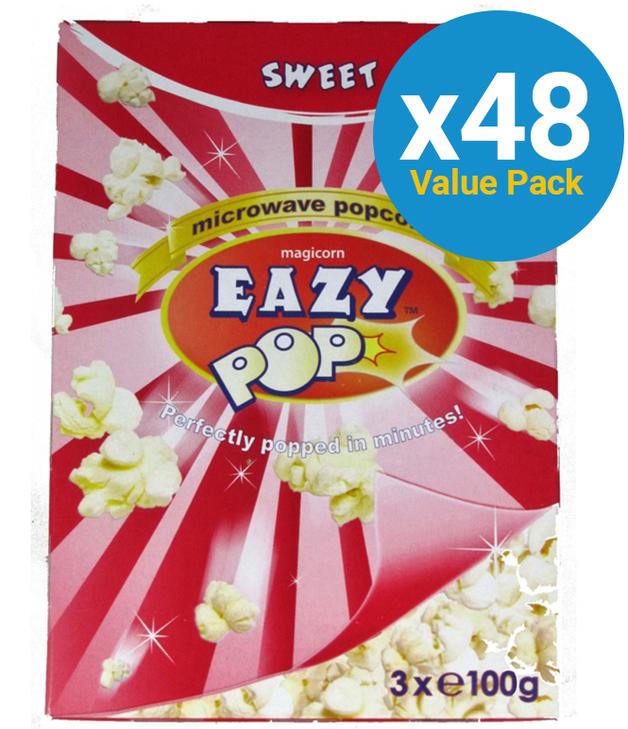Eazypop: Microwave Popcorn Sweet (48 Pack)