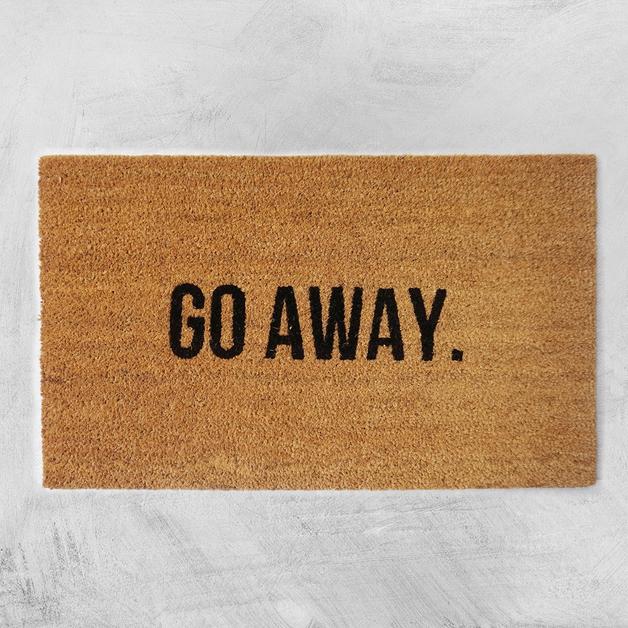 Natural Fibre Doormat - Go Away