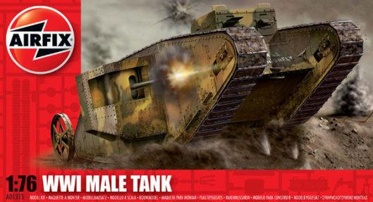 Airfix WWI Male Tank 1:76 Model Kit