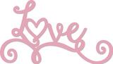 Kaisercraft: Decorative Die Words - Love