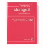 Storage.it 2018 Weekly A5 Diary - Neon Pink