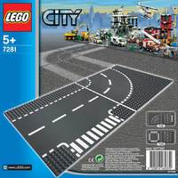 LEGO City: T-Junction & Curved Road Plates (7281)