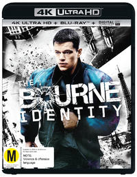 The Bourne Identity on Blu-ray, UHD Blu-ray, UV