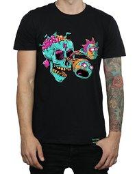 Rick and Morty: Eyeball Skull T-Shirt - Black (Medium)