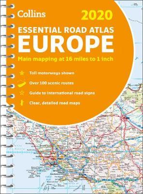 2020 Collins Essential Road Atlas Europe by Collins Maps image