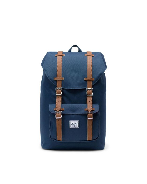 Herschel Supply Co: Herschel Little America Mid-Volume Backpack - Navy/Brown