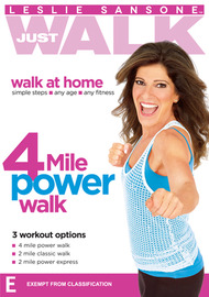 Leslie Sansone Just Walk: 4 Mile Power Walk on DVD