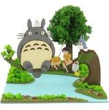 Miniatuart Ghibli Series: 1/48 Totoro & Satsuki & Mei Papercraft Kit