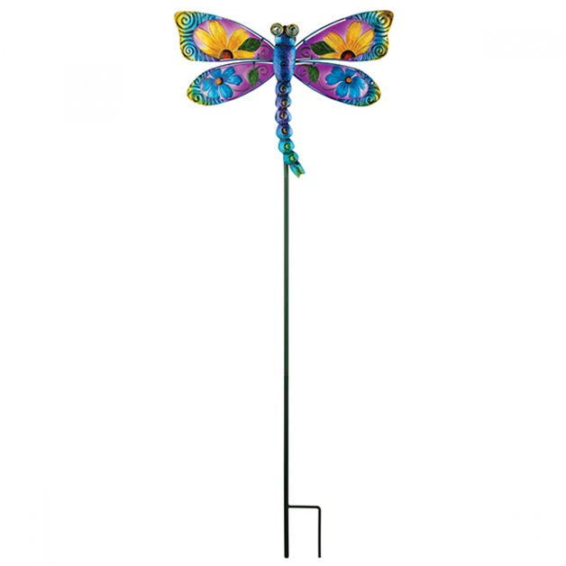 Regal: Floral Dragonfly Stake - Blue