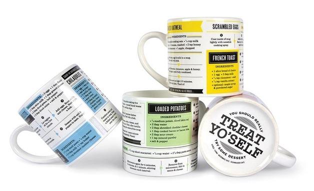 Fred Grub Mugs - Set Of 4 Recipe Mugs