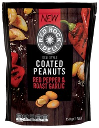 Red Rock Deli: Coated Peanuts - Red Pepper & Roast Garlic (150g)