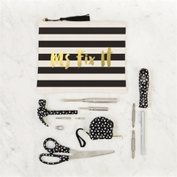 Two's Company Ms Fix It Black and White Tool Set